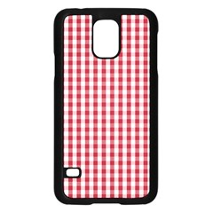Usa Flag Red Blood Large Gingham Check Samsung Galaxy S5 Case (black) by PodArtist
