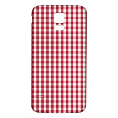 Usa Flag Red Blood Large Gingham Check Samsung Galaxy S5 Back Case (white) by PodArtist