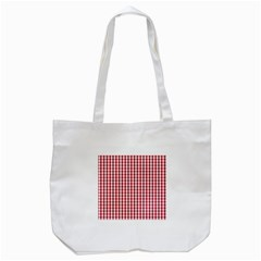 Usa Flag Red Blood Large Gingham Check Tote Bag (white) by PodArtist