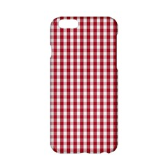 Usa Flag Red Blood Large Gingham Check Apple Iphone 6/6s Hardshell Case by PodArtist