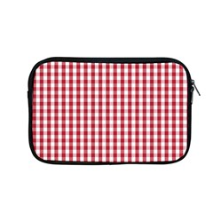Usa Flag Red Blood Large Gingham Check Apple Macbook Pro 13  Zipper Case by PodArtist