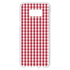 Usa Flag Red Blood Large Gingham Check Samsung Galaxy S8 Plus White Seamless Case