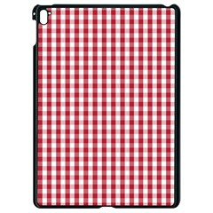 Usa Flag Red Blood Large Gingham Check Apple Ipad Pro 9 7   Black Seamless Case