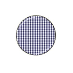 Usa Flag Blue Large Gingham Check Plaid  Hat Clip Ball Marker by PodArtist