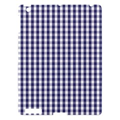 Usa Flag Blue Large Gingham Check Plaid  Apple Ipad 3/4 Hardshell Case by PodArtist