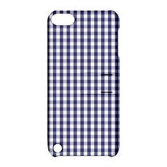 Usa Flag Blue Large Gingham Check Plaid  Apple Ipod Touch 5 Hardshell Case With Stand by PodArtist