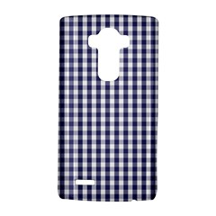 Usa Flag Blue Large Gingham Check Plaid  Lg G4 Hardshell Case by PodArtist