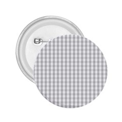 Christmas Silver Gingham Check Plaid 2 25  Buttons by PodArtist