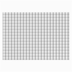 Christmas Silver Gingham Check Plaid Large Glasses Cloth (2 Side) by PodArtist