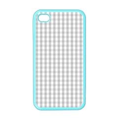 Christmas Silver Gingham Check Plaid Apple Iphone 4 Case (color) by PodArtist