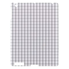 Christmas Silver Gingham Check Plaid Apple Ipad 3/4 Hardshell Case by PodArtist