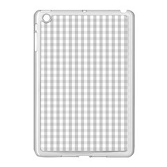 Christmas Silver Gingham Check Plaid Apple Ipad Mini Case (white) by PodArtist