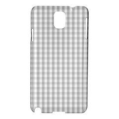 Christmas Silver Gingham Check Plaid Samsung Galaxy Note 3 N9005 Hardshell Case by PodArtist