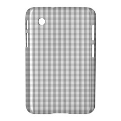 Christmas Silver Gingham Check Plaid Samsung Galaxy Tab 2 (7 ) P3100 Hardshell Case  by PodArtist