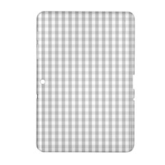 Christmas Silver Gingham Check Plaid Samsung Galaxy Tab 2 (10 1 ) P5100 Hardshell Case  by PodArtist