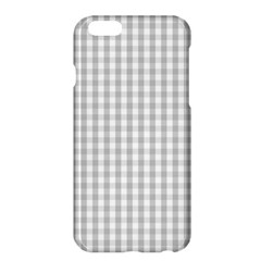 Christmas Silver Gingham Check Plaid Apple Iphone 6 Plus/6s Plus Hardshell Case by PodArtist