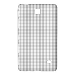 Christmas Silver Gingham Check Plaid Samsung Galaxy Tab 4 (7 ) Hardshell Case  by PodArtist