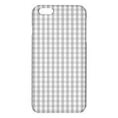 Christmas Silver Gingham Check Plaid Iphone 6 Plus/6s Plus Tpu Case by PodArtist