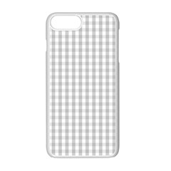 Christmas Silver Gingham Check Plaid Apple Iphone 7 Plus White Seamless Case by PodArtist