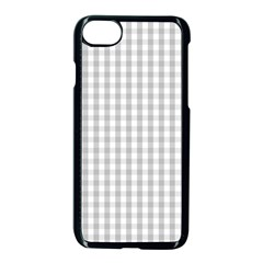 Christmas Silver Gingham Check Plaid Apple Iphone 7 Seamless Case (black) by PodArtist