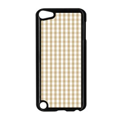 Christmas Gold Large Gingham Check Plaid Pattern Apple Ipod Touch 5 Case (black) by PodArtist