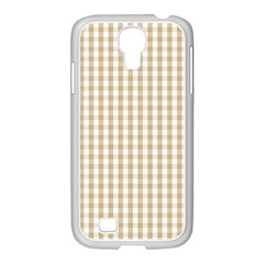 Christmas Gold Large Gingham Check Plaid Pattern Samsung Galaxy S4 I9500/ I9505 Case (white) by PodArtist