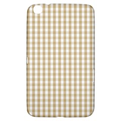 Christmas Gold Large Gingham Check Plaid Pattern Samsung Galaxy Tab 3 (8 ) T3100 Hardshell Case  by PodArtist