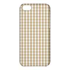 Christmas Gold Large Gingham Check Plaid Pattern Apple Iphone 5c Hardshell Case by PodArtist