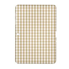 Christmas Gold Large Gingham Check Plaid Pattern Samsung Galaxy Tab 2 (10 1 ) P5100 Hardshell Case  by PodArtist