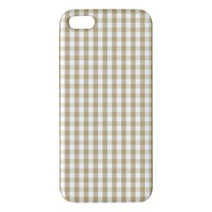 Christmas Gold Large Gingham Check Plaid Pattern Iphone 5s/ Se Premium Hardshell Case by PodArtist