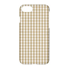 Christmas Gold Large Gingham Check Plaid Pattern Apple Iphone 7 Hardshell Case by PodArtist
