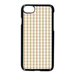 Christmas Gold Large Gingham Check Plaid Pattern Apple Iphone 7 Seamless Case (black) by PodArtist