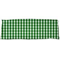 Christmas Green Velvet Large Gingham Check Plaid Pattern Body Pillow Case Dakimakura (two Sides) by PodArtist