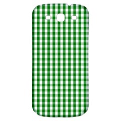 Christmas Green Velvet Large Gingham Check Plaid Pattern Samsung Galaxy S3 S Iii Classic Hardshell Back Case by PodArtist