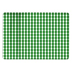 Christmas Green Velvet Large Gingham Check Plaid Pattern Samsung Galaxy Tab 10 1  P7500 Flip Case by PodArtist