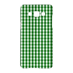 Christmas Green Velvet Large Gingham Check Plaid Pattern Samsung Galaxy A5 Hardshell Case  by PodArtist
