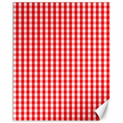 Christmas Red Velvet Large Gingham Check Plaid Pattern Canvas 16  X 20   by PodArtist