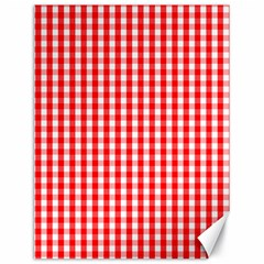 Christmas Red Velvet Large Gingham Check Plaid Pattern Canvas 18  X 24   by PodArtist