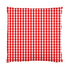 Christmas Red Velvet Large Gingham Check Plaid Pattern Standard Cushion Case (one Side) by PodArtist