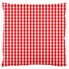 Christmas Red Velvet Large Gingham Check Plaid Pattern Large Cushion Case (one Side) by PodArtist