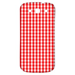 Christmas Red Velvet Large Gingham Check Plaid Pattern Samsung Galaxy S3 S Iii Classic Hardshell Back Case by PodArtist