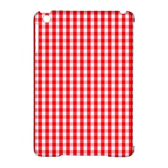 Christmas Red Velvet Large Gingham Check Plaid Pattern Apple Ipad Mini Hardshell Case (compatible With Smart Cover) by PodArtist
