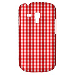Christmas Red Velvet Large Gingham Check Plaid Pattern Galaxy S3 Mini by PodArtist