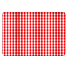 Christmas Red Velvet Large Gingham Check Plaid Pattern Samsung Galaxy Tab 8 9  P7300 Flip Case by PodArtist