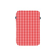 Christmas Red Velvet Large Gingham Check Plaid Pattern Apple Ipad Mini Protective Soft Cases by PodArtist