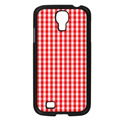Christmas Red Velvet Large Gingham Check Plaid Pattern Samsung Galaxy S4 I9500/ I9505 Case (black)