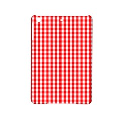 Christmas Red Velvet Large Gingham Check Plaid Pattern Ipad Mini 2 Hardshell Cases by PodArtist