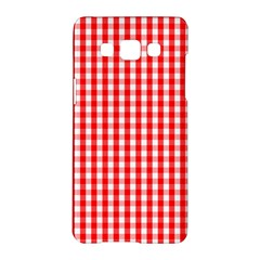Christmas Red Velvet Large Gingham Check Plaid Pattern Samsung Galaxy A5 Hardshell Case  by PodArtist