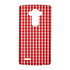 Christmas Red Velvet Large Gingham Check Plaid Pattern Lg G4 Hardshell Case by PodArtist