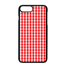 Christmas Red Velvet Large Gingham Check Plaid Pattern Apple Iphone 7 Plus Seamless Case (black) by PodArtist